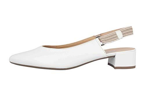 Gabor Fashion Pumps in Übergrößen Weiß 41.541.21 große Damenschuhe, Größe:42.5