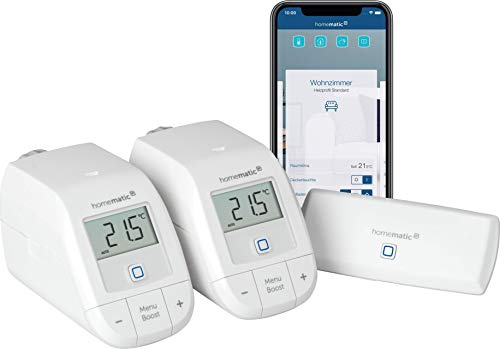 Homematic IP Smart Home Starter Set Heizen – WLAN, intelligente Heizungssteuerung per App und Amazon Alexa, 155703A0