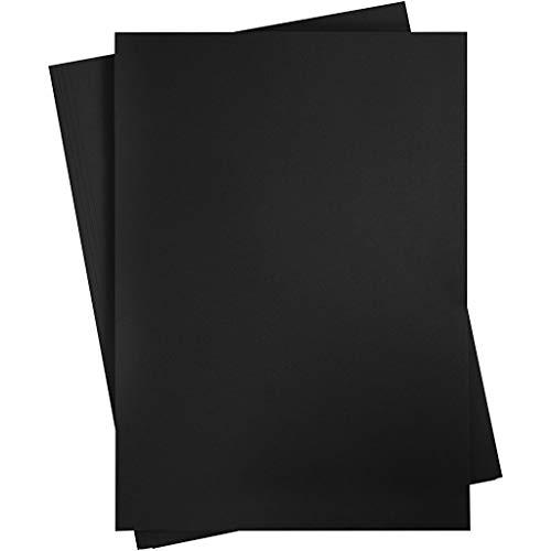 Creativ 21527 Tonkarton A2 420x600 mm 180 g anthrazit schwarz 10 Blatt