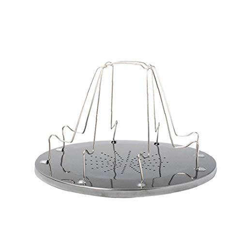tJexePYK Tostadora portátil Plataforma de Camp tostadora del Pan Plegable de 4 Piezas de Pan Placa Camping Bandeja Plegable Parrilla Aire Libre de la Comida campestre
