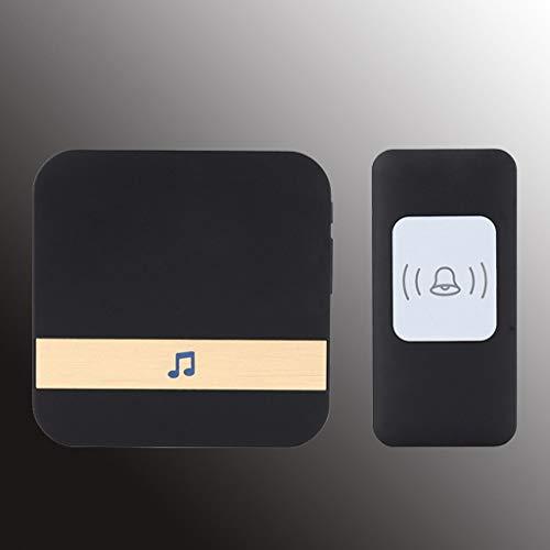 JYDQM Timbre Inteligente inalámbrico WiFi con Control Remoto, Timbre Impermeable Adecuado para Varios enchufes (Color : Black)