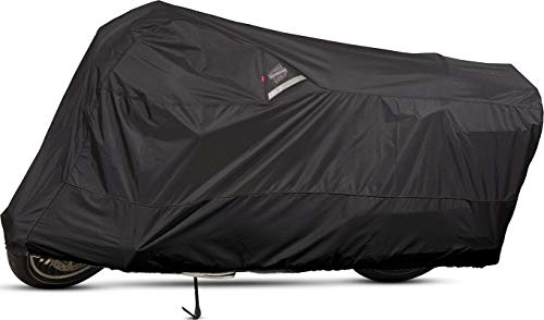 Guardian By Dowco - WeatherAll Plus Indoor/Outdoor Motorcycle Cover - Lifetime Limited Warranty - Reflective - Waterproof - UV Protection - Heat Safe - Moisture Guard Vent - Black - Large [ 50003-02 ]