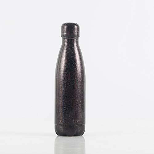 Xiaobing Taza Termo Colorida de la Moda de la Pintura de la Flor del Hielo de la Taza del Regalo de la Botella de los Deportes del Acero Inoxidable 304 -D056-500ml-G738