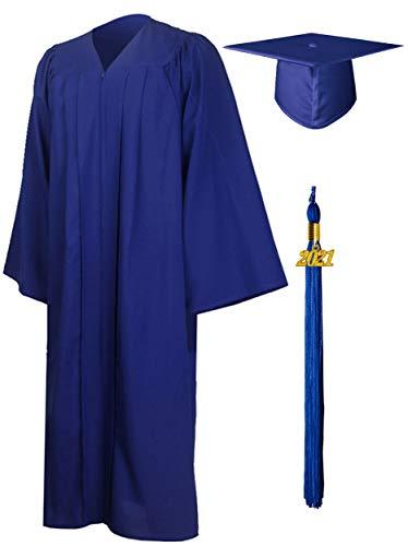 GraduationMall Toga y Birrete Graduacion Adulto 2021 con Borla Gorro Graduacion Unisex para Bacholr de Secundaria y Universidad 12 Colores