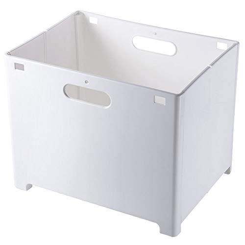 Mankoo Cesto para la ropa sucia plegable en la pared, para ahorrar espacio, cesta de tela