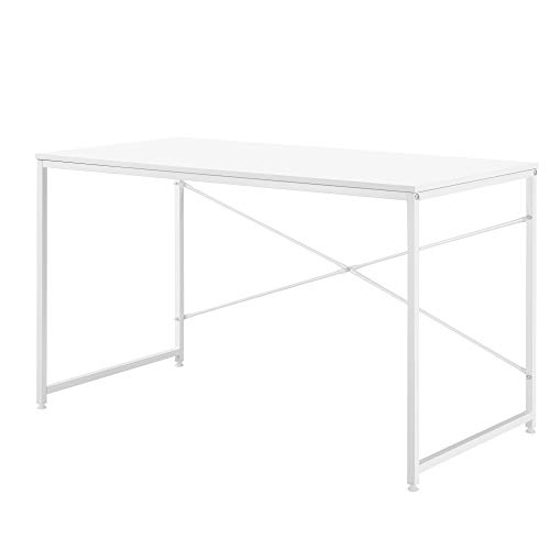 [en.casa] Mesa Escritorio 120 x 60 x 72 cm Mesa de Oficina Mesa de Trabajo Blanc