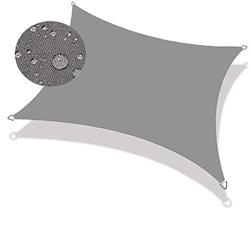 COUEO Vela de Sombra Cuadrado 5x5m Resistente a la Intemperie Protección Solar, Toldo Vela IKEA Kit de Montaje para Toldo para Patio Exteriores, Gris