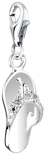 Nenalina Charm Sandale Anhänger in 925 Sterling Silber für alle gängigen Charmträger 716004-019