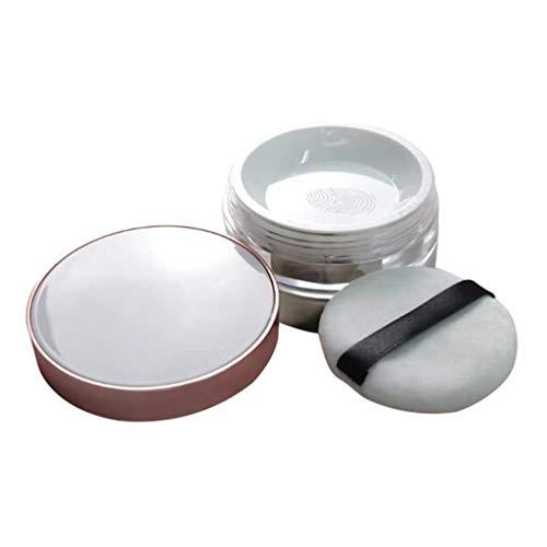 SDENSHI Pot Vide de Poudre en Plastique Récipient Cosmétique Conteneur dePoudre de Tamis pour Stockage de Maquillage avec Bouffée