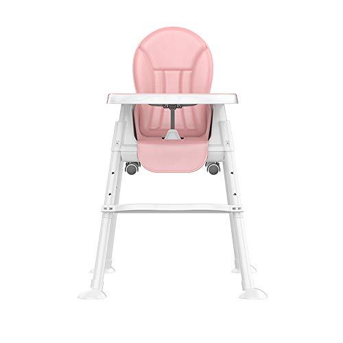 ZCFXGHH Baby multifunctionele kindereetkamerstoel, opvouwbaar tafeltje, draagbare hoge stoel, verstelbare babyeettafel