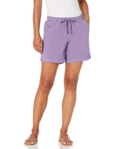 Erika Women's Lucy High Rise Pull On Drawstring Short, Wisteria, Small