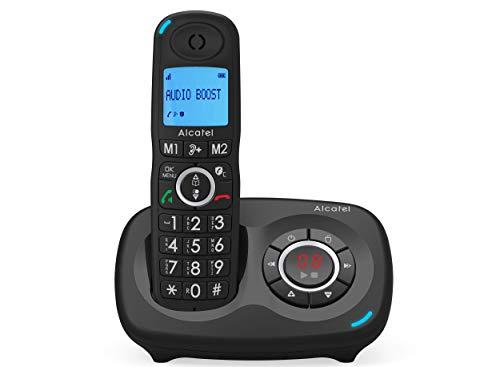 ALCATEL XL 595 B Voice Noir avec répondeur, téléphone pour les seniors avec blocage des appels intempestifs