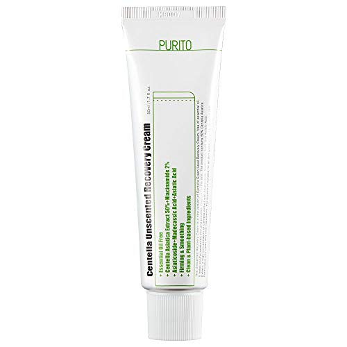PURITO Centella Unscented Recovery Cream 50ml / 1.7 fl.oz Witch Hazel-free, Vegan, Skin barrier