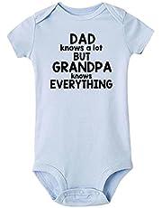 الآباء يعرفون الكثير الجدة يعرف كل شيء طفل رضيع رومبير الرضع الصيف قصيرة الأكمام طفل ارتداءها بذلة (Color : SB50 SRPLB, Kid Size : 9M)