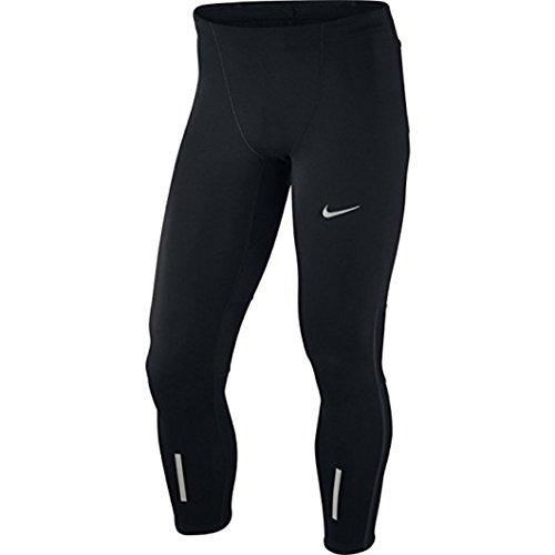Nike Herren Lauftights Tech Tights, Black/Reflective Silver, S