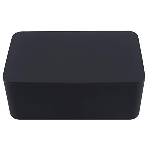 EMFGJ Caja dispensadora de toallitas húmedas para bebé, caja de pañuelos húmedos, a prueba de polvo, servilletas, caja de almacenamiento para escritorio de oficina en casa, color negro