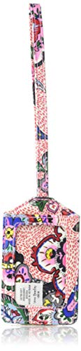 Vera Bradley Women's Signature Cotton Luggage ID Tag, Stitched Flowers, One Size