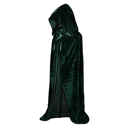 GAOU Kids Fluwelen Hooded Cape Mantel Voor Halloween Cosplay Kostuum School Dress Up 110CM/43.3