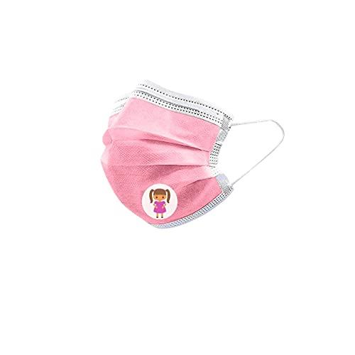 URUSANA 50x Kinder Maske Einweg-Gesichtsmasken Einweg Mund und Nasenschutz Mundbedeckung Behelfsmaske Mundschutz atmungsaktiv Pink Staubmaske Dehnbare elastische Ohrschlaufen Maske (Rosa)