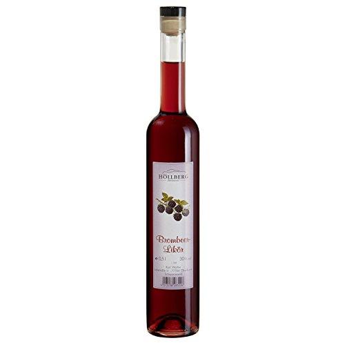 Brombeer-Likör Höllberg 30% vol, (1 x 0.5 Liter) Brombeerlikör ohne Aromastoffe