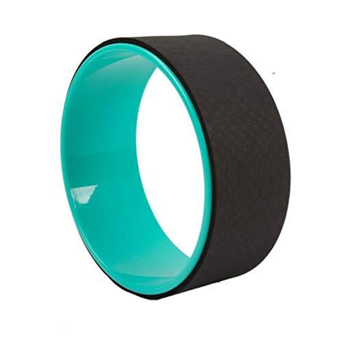 Yoga della rotella Yoga Wheel Roller Strongest La maggior parte Yoga confortevole stretching rotella per aumentare la flessibilità Migliorare Piegamenti Nero attrezzature per il fitness
