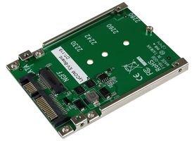 Compatible con el Factor de Forma M.2 2230 2242 2260 2280 M a 2,5 Pulgadas SATA III 6Gbps SSD HDD Convertidor con Caja de Pl/ástico Negro de 7 mm ADWITS M.2 NGFF Llave B o B