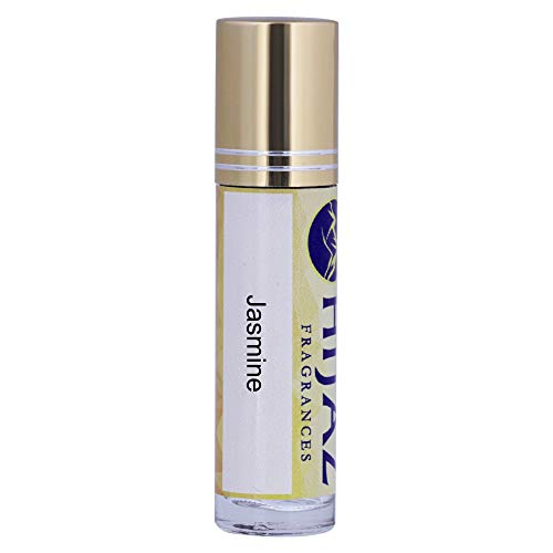 Hijaz Jasmine Women's Fragrance Alcohol Free Scented Body Oil 1/3 oz Roll on Bottle