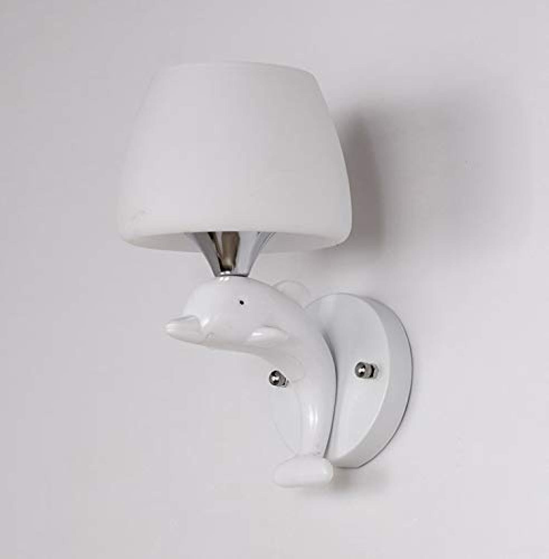 LMDH Kreative LED Wandleuchte Moderne Minimalistische Gang Wandleuchte Schlafzimmer Nachtwandleuchte Einzigen Kopf Doppelkopf (gre   Single head)