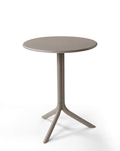 Gartentisch / Bistrotisch Spritz Mini Kunststoff grau-braun Ø60,5cm