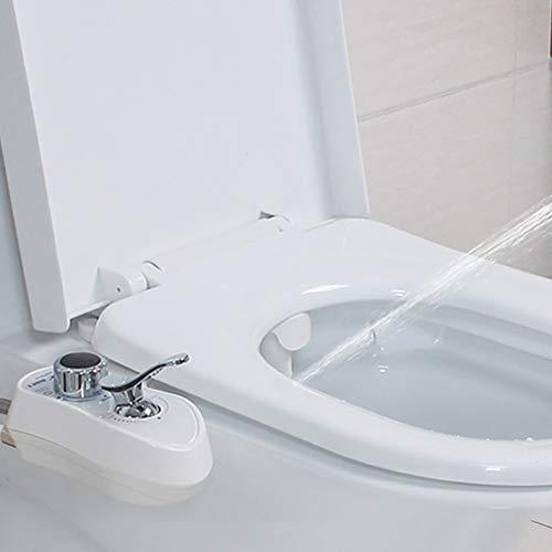 Abattant WC Bidet, Eau Douce Chaude et Froide avec Auto-Nettoyage Buse Rétractable Nettoie Votre Arrière pour Les Soins Personnels Hygiéniques, Assainissement