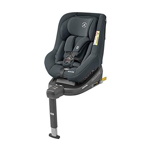 Maxi-Cosi Beryl Kindersitz, mitwachsender Autositz mit ISOFIX oder Gurt Installation geeignet für jedes Auto, Gruppe 0+/1/2, nutzbar ab der Geburt bis ca. 7 Jahre (0-25 kg), Authentic Graphite, Grau