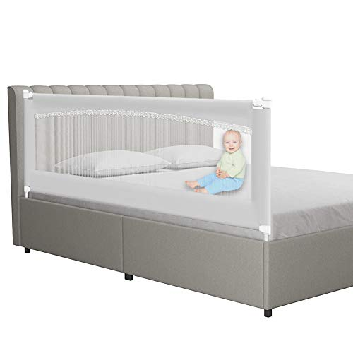 MAYbabe Bed Rails for Toddlers-Extra Long and Tall Infants Guardrail,for The Side of King & Queen & Cal King Bed and for The Foot of King Bed (78in-1pack)