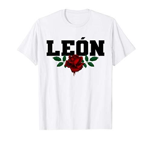 León España - Spain Heritage Bleeding Rose Souvenir Camiseta