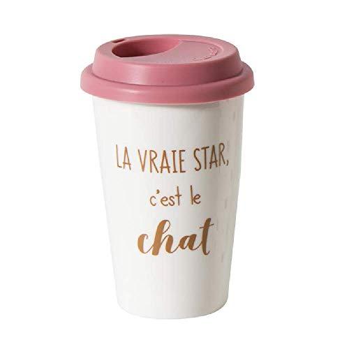 The concept factory CMP, Mug de Transport Double paroi Chat La Vraie Star