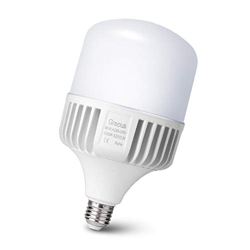 Greous 50W (350-400Watt Equivalent) LED Light Bulbs 5250 Lumens, 5000K Daylight,E26 Medium Screw Base Home Lighting,for Garage,Area Light, Warehouse Office Backyard High Bay and More
