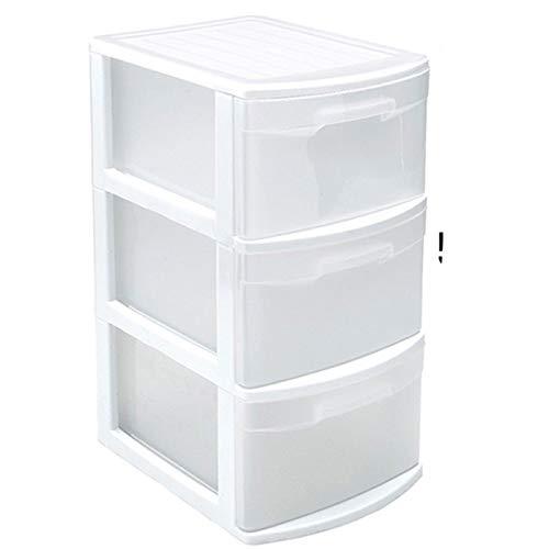Acan Plástic Forte - Cajonera Támesis Base Estructura Blanco 3 cajones Transparente tamaño de Folio 58.5 x 28.5 x 39 cm, Cajonera plástico 3 cajones sin Rueda