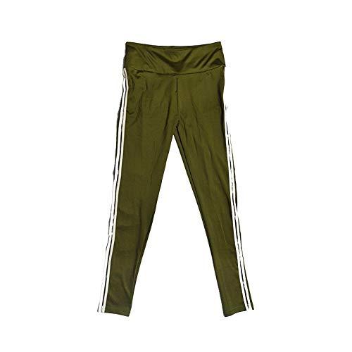 MOHAMED Deportes y Pantalones de Yoga de la Aptitud Que Basa la extensión del Blanco Pliegues Laterales de la Manera Simple (Color : Army Green, Size : L)