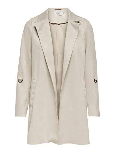 Only Onljoline Faux Suede Coat CC Otw Chaqueta de cuero sintético para Mujer