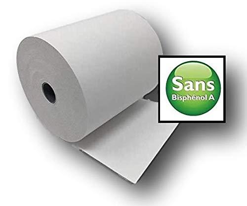 10 Bobine Papier Thermique SANS BISPHÉNOL 80 x 80 x 12 mm SANS BISPHÉNOL A rouleaux thermique 80x80x12 pour ticket de caisse imprimante thermique caisse enregistreuse thermique au norme CEE