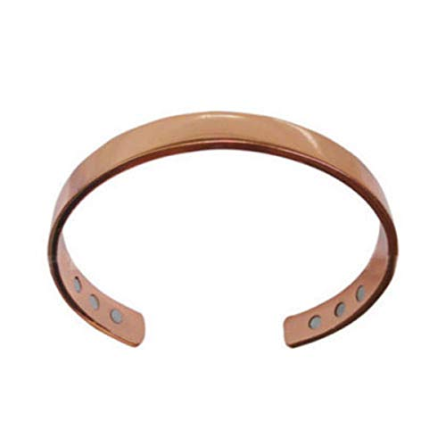 Copper Magnetic Therapy Bracelet Arthritis Pain Relief Bangle Weight Loss Dark Grey/Rose Gold Mens Women (Rose Gold)