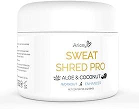 Sweat Shred Pro Aloe & Coconut Workout Enhancer Cellulite Cream - Slimming Cream - Hot Gel - Sweat Cream - Sweat Gel - Jar (6.5 oz) - Ariany Health
