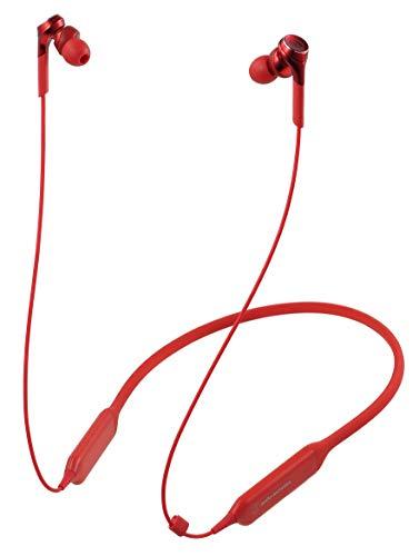オーディオテクニカ Bluetooth対応 ダイナミック密閉型カナルイヤホン(レッド)audio-technica SOLID BASS...