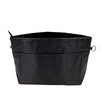 Lrker Women s Purse Organizer Handbag Tote Insert Liner Divider Inside Bag X-Large Black Taller