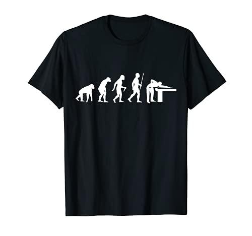 Billard Evolution für Billardspieler Pool-Billard Snooker T-Shirt
