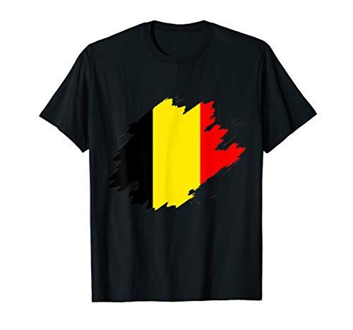Belgien Flagge Belgische Fahne Fans Liebhaber T-Shirt