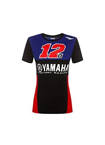 Maverick Vinales Yamaha Vinales-Racing T-Shirt Femme, Multicolore, XL