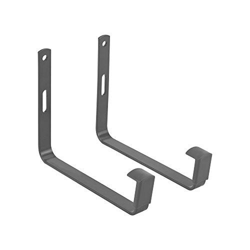 Elho Green Basics Wandhalter Metall - Anthrazit - Draußen & Balkon - L 15.6 x W 1.6 x H 15.6 cm