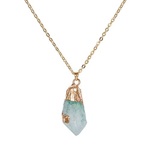 MUNIU Nuevo clásico hecho a mano Twining irregular piedra natural colgante púrpura cristal rosa cuarzo collar de cristal para las mujeres