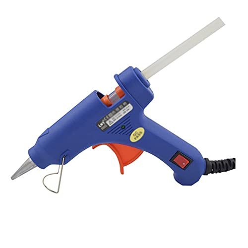 20W Hot Melt Glue Gun, Manual Small Sol Gun with Indicator Light, Suitable for DIY Hand-Made Home Quick Repair, with Switch Key