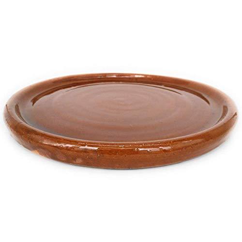 Plato chuletero de barro refractario de 31 x 2,5 cm